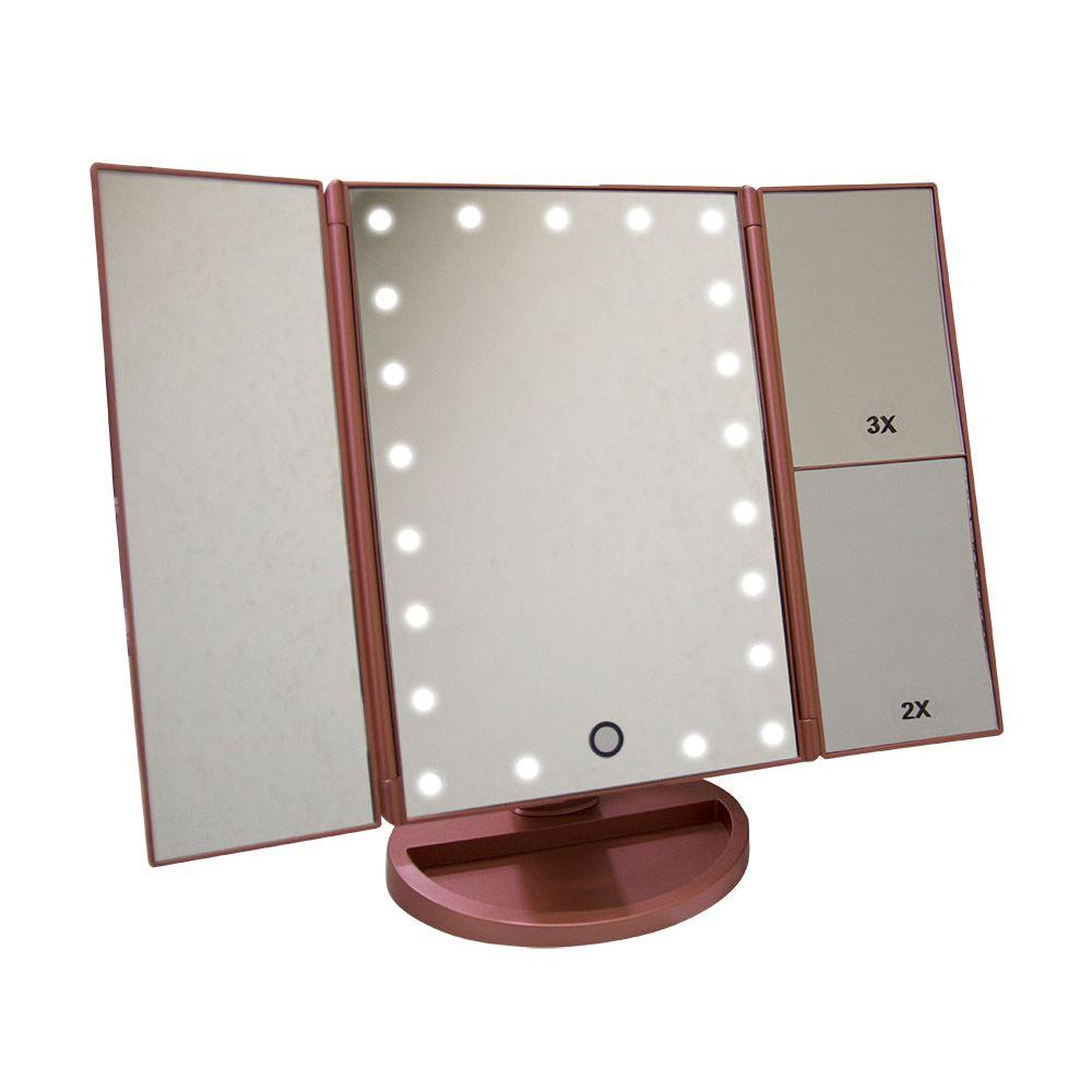 Espelho articulado para Maquiagem Weily Mirror c/ iluminação de Led