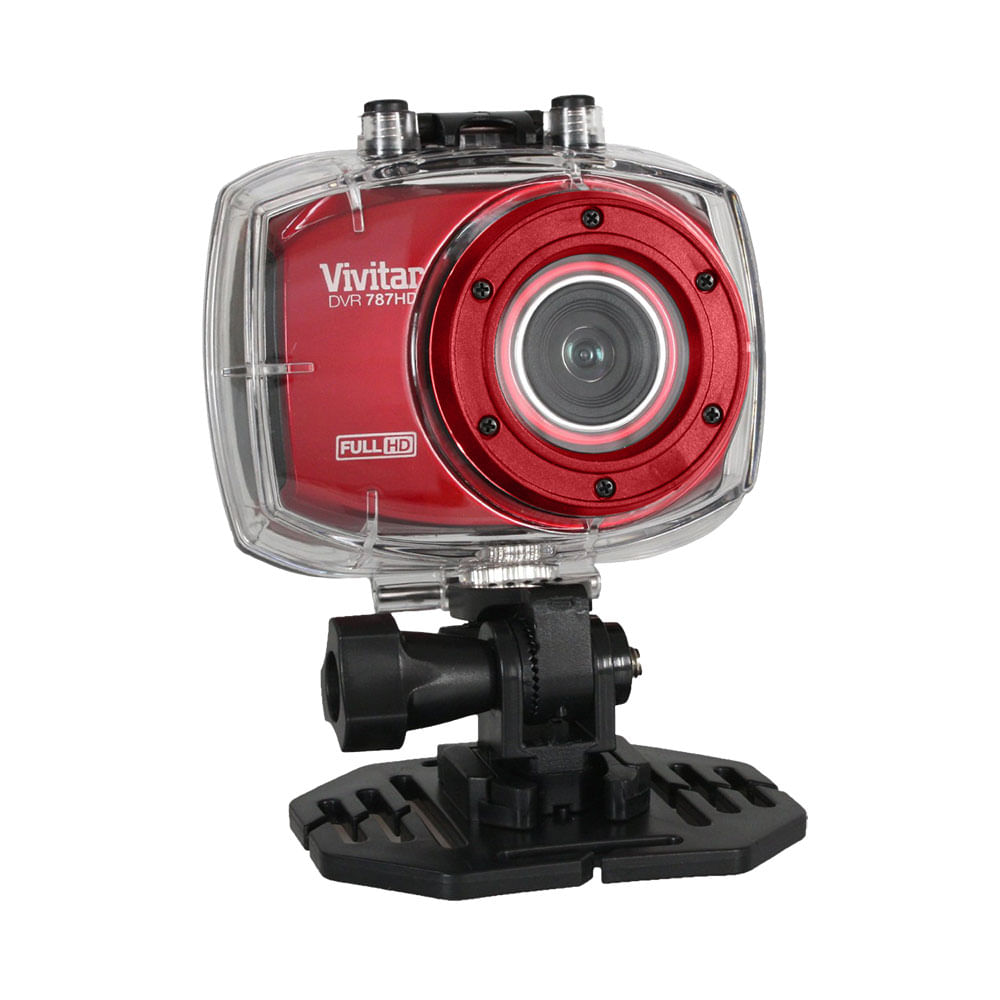 Câmera Filmadora De Ação Full Hd Com Caixa Estanque E Acessórios Vermelha