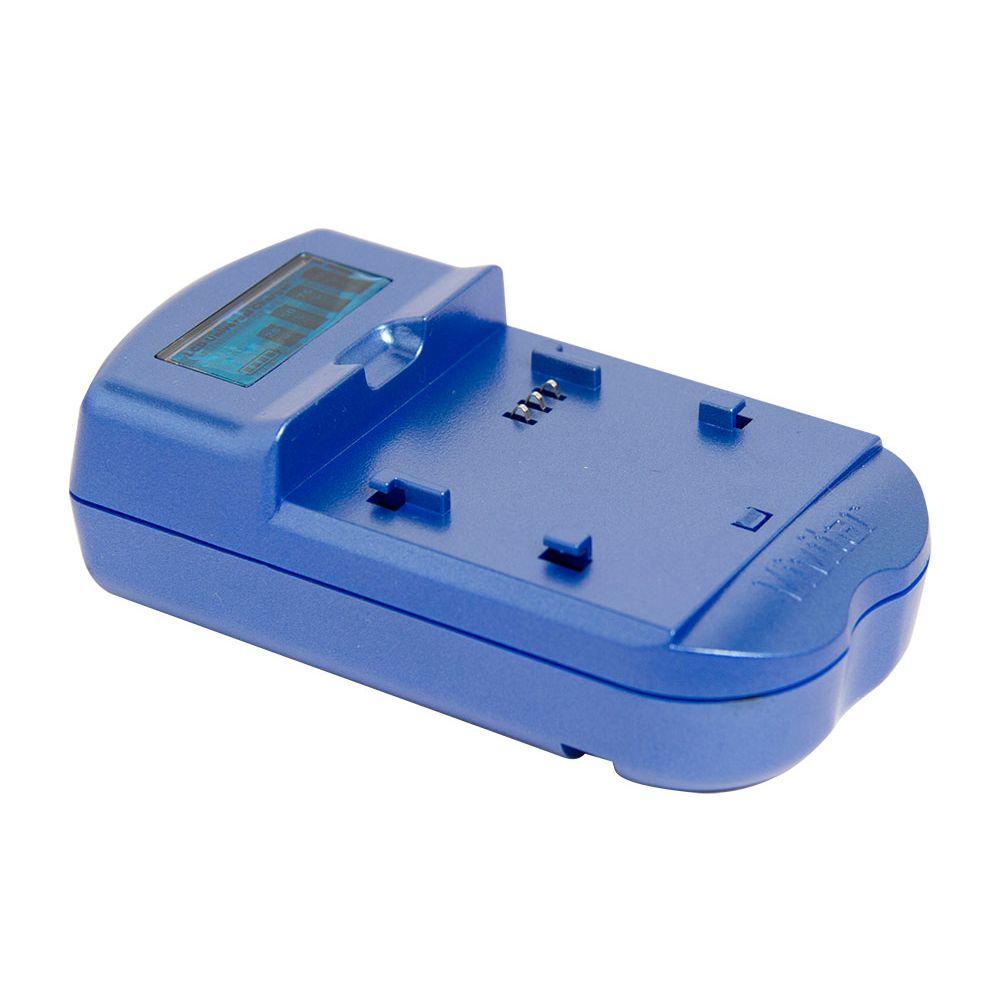 Carregador de baterias Nikon com visor de LCD Azul