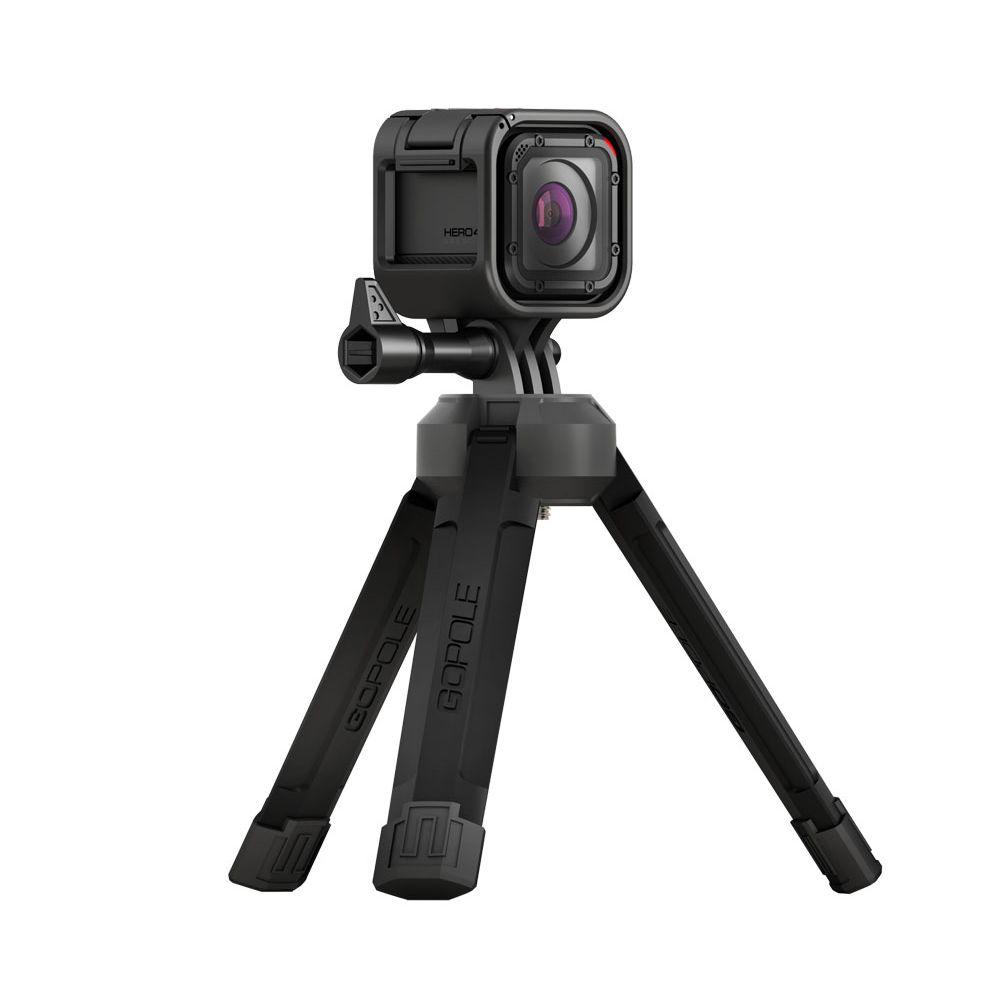 Tripé compacto dobrável para GoPro e câmeras convencionais