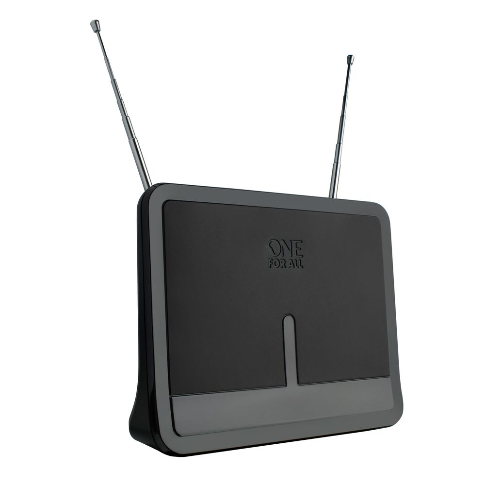 Antena Interna Amplificada De 42 Db Fm, Vhf, Uhf E Isdb-T