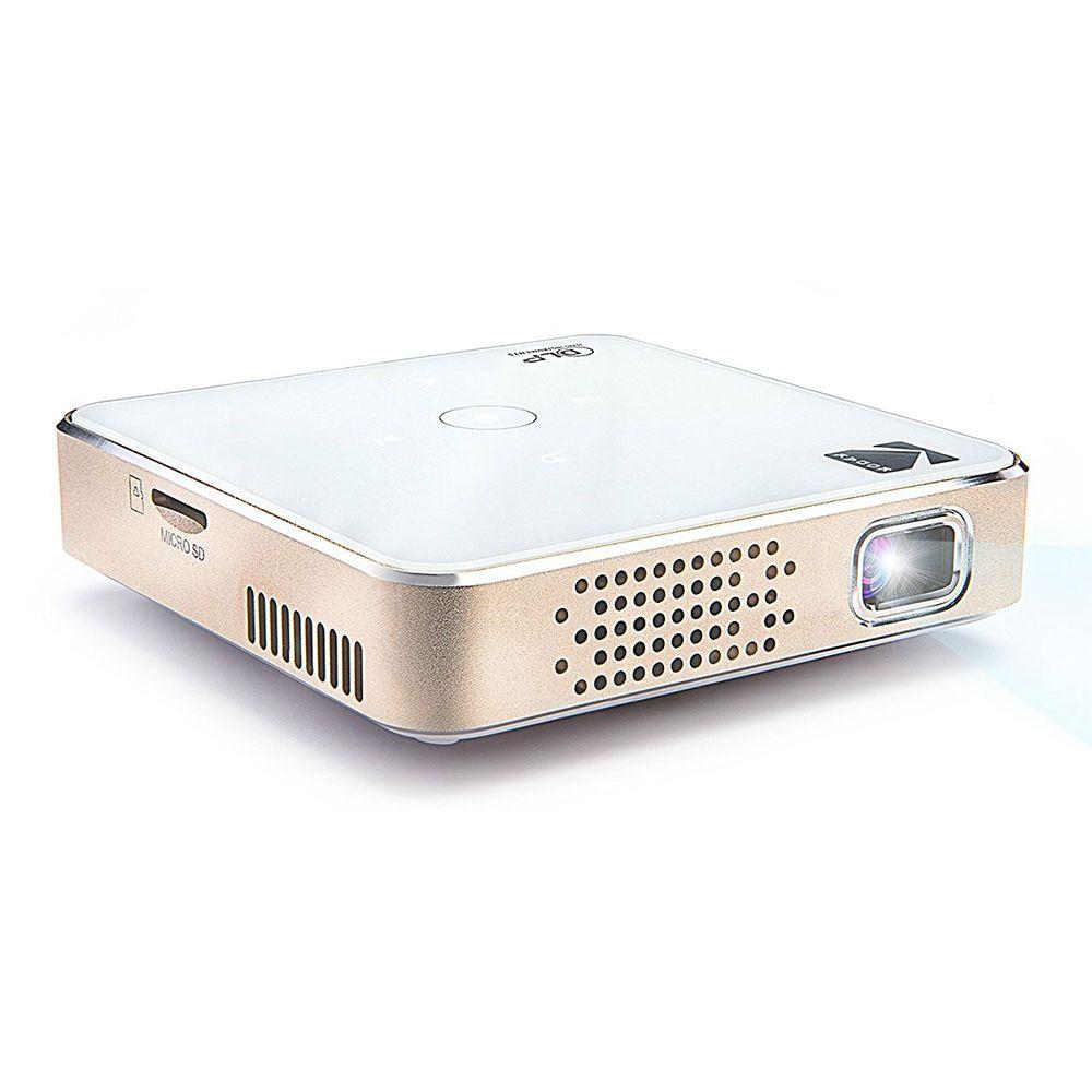 Projetor DLP portátil de bolso Kodak 1080p HD, HDMI, USB e micro SD
