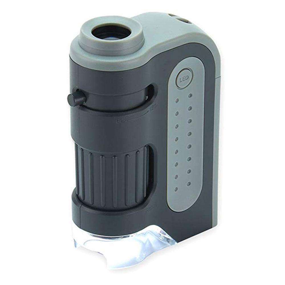 Microscópio de Bolso MicroBrite Plus MM-300 Carson com LED e ampliação 60x a 120x