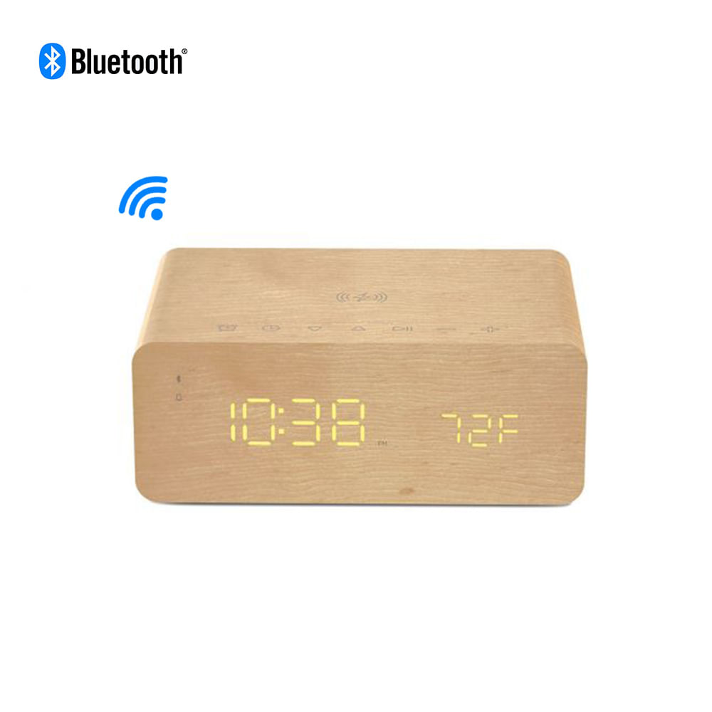 Relógio Despertador digital Charge Time ION ISP99 Bluetooth com Carregador p/ celular