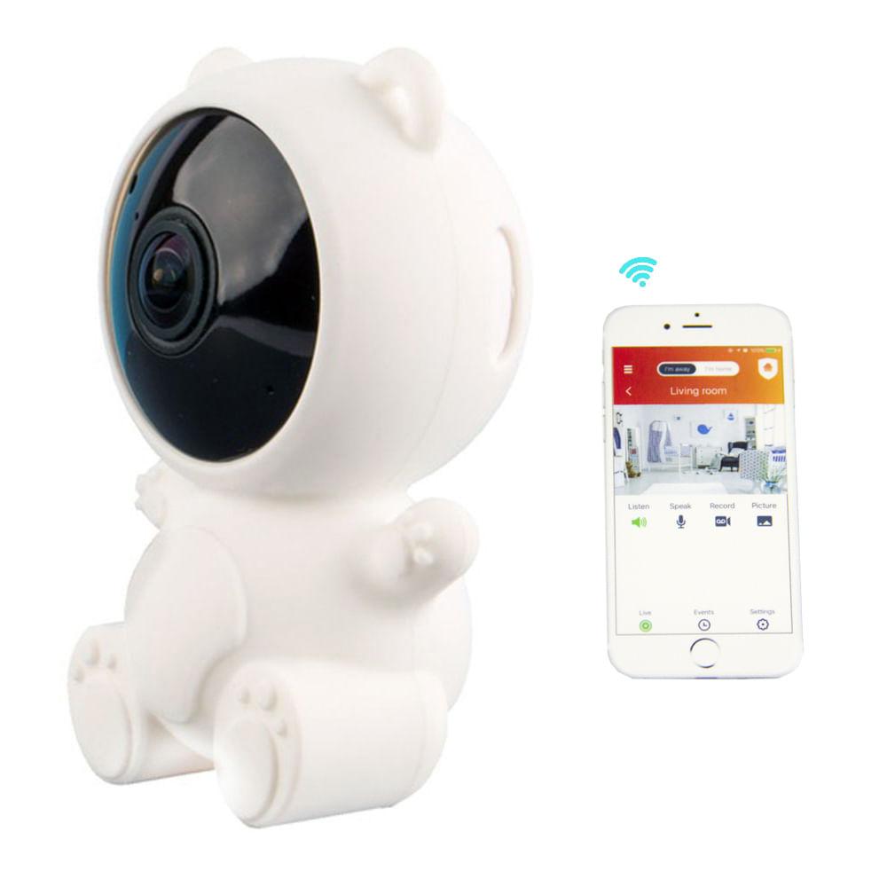Babá eletrônica Vivitar inteligente Wi-Fi Full HD e compatível c/ Alexa e Google Assistant Branca