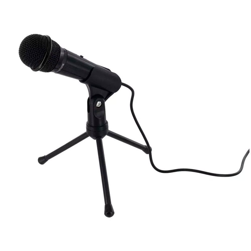Microfone p/ Mídia Social Wireless Gear GO-609 com cancelamento de ruído, tripé e Suporte