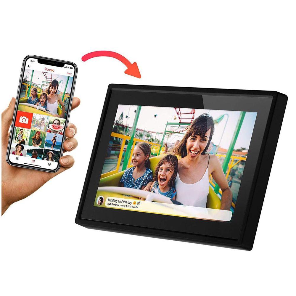 Porta-Retratos Digital inteligente Minolta Smart MN632 Wi-Fi LCD 10´´ Touch Screen 8GB