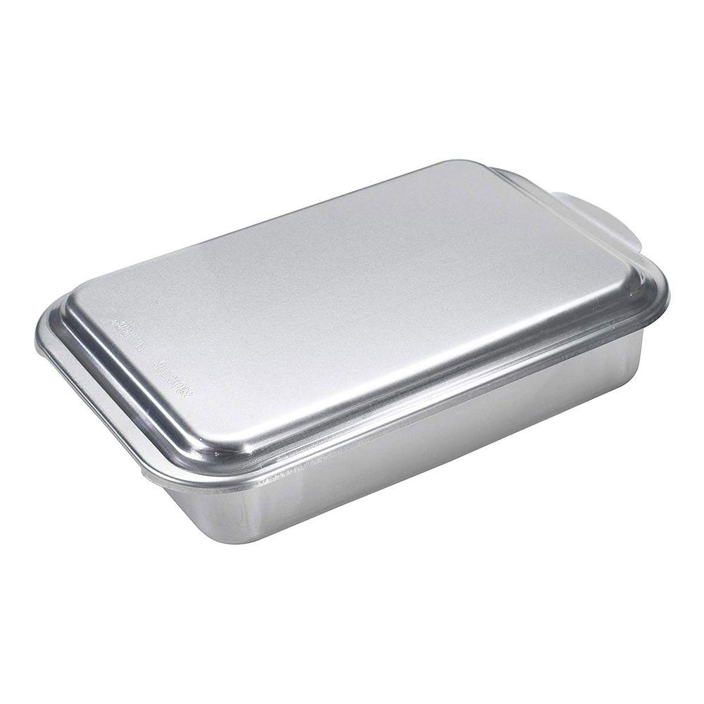 Forma com tampa Nordic Ware em alumínio natural - Prata