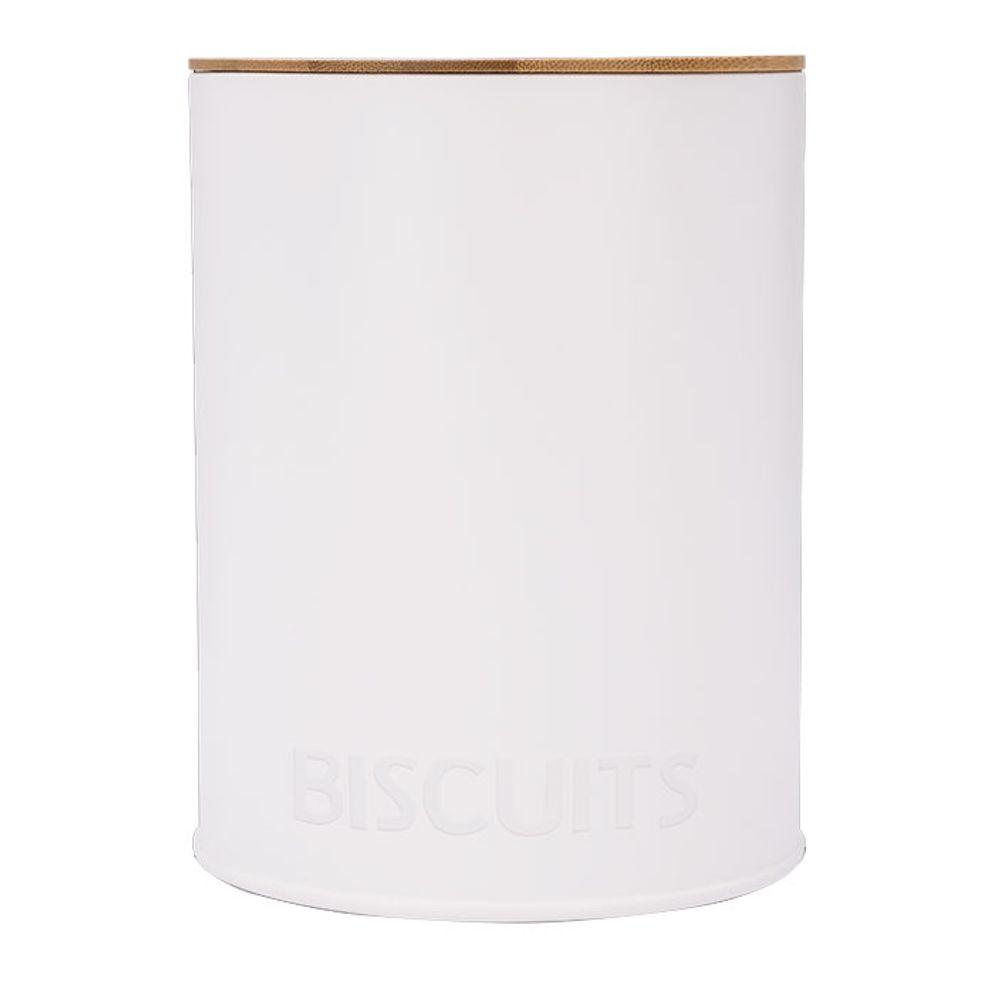 Pote Redondo Para Biscoitos Canister Branco Haus Concept 13,9 x 17,5 cm