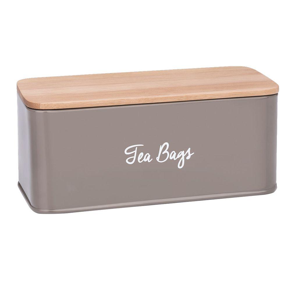 Porta Chá Canister Warm Gray - Haus Concept 20,1 x 8,6 x 8,7 cm