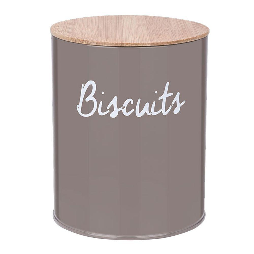 Pote Redondo Para Biscoitos Canister Warm Gray - Haus Concept 13,9 x 17,5 cm