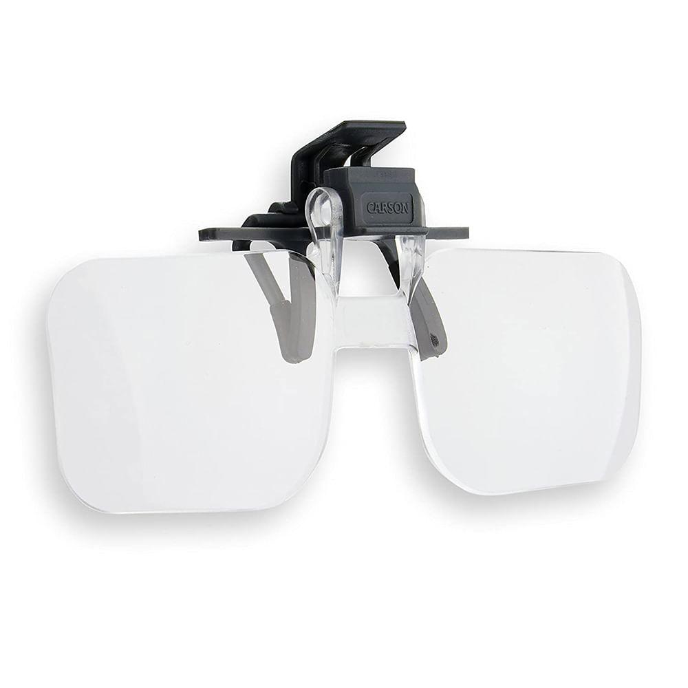 Lente de Aumento com encaixe para óculos e Ampliação de 2x