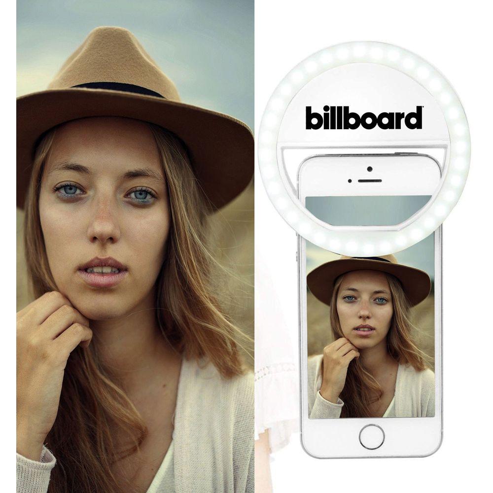 Ring Light Selfie Billboard recarregável com clipe para Smartphone e Tablet