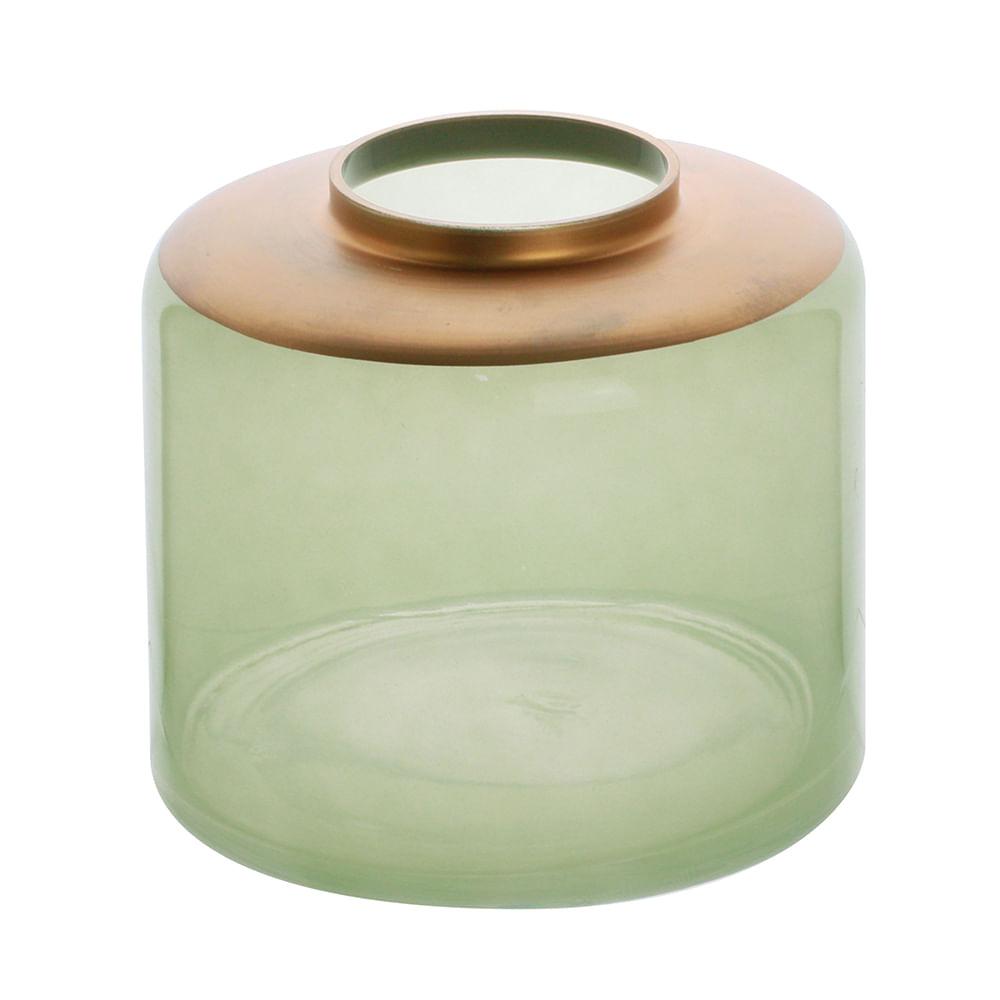 Vaso vidro verde 16x14cm