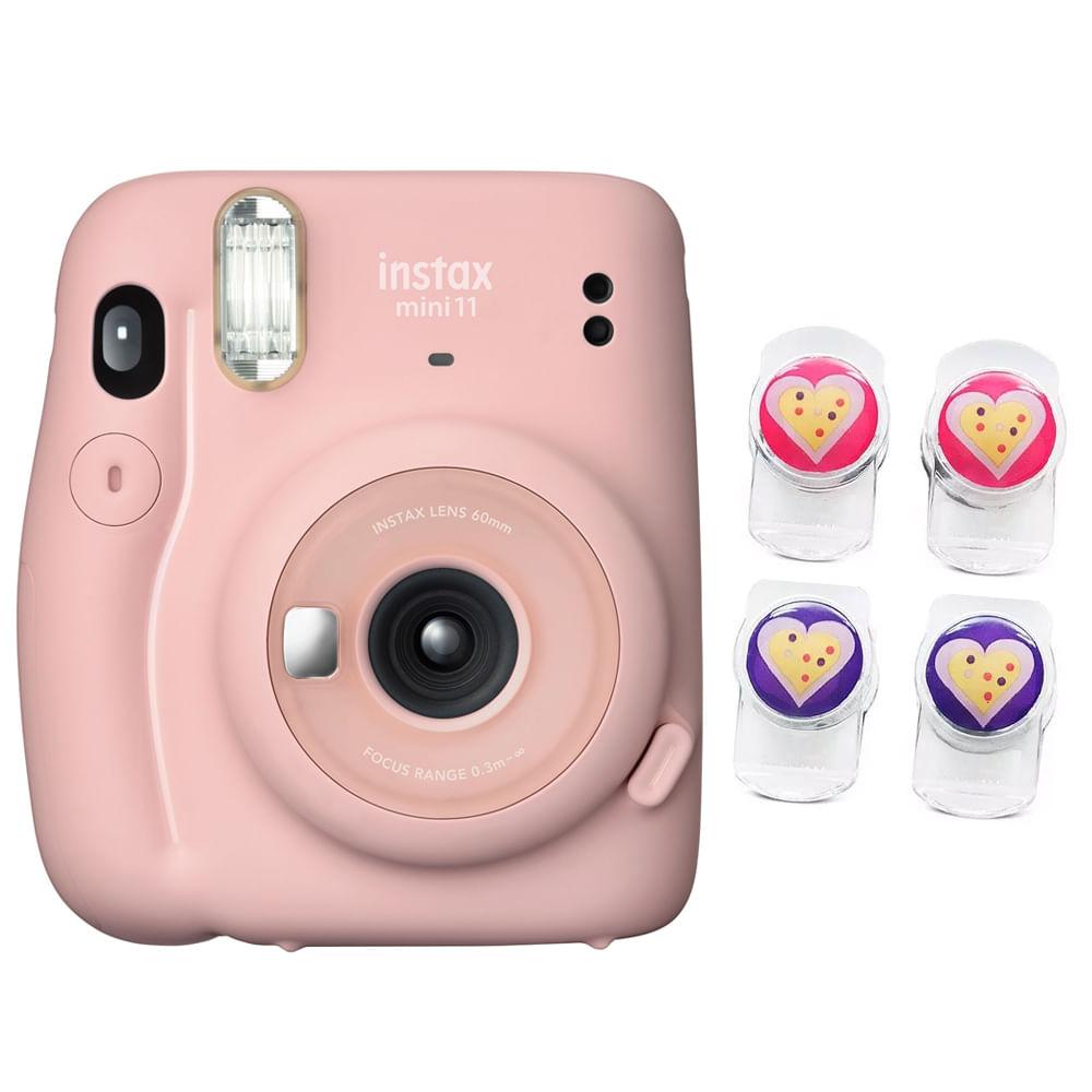 Câmera Fujifilm Instax Mini11 C/ Função Selfie E Espelho Frontal + 4 Clips Magnéticos