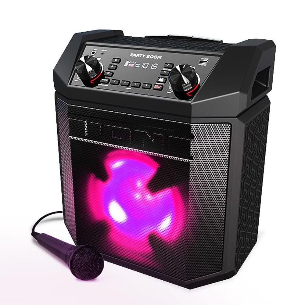 Alto-Falante 100W Bluetooth, Show de Luzes,  AM/FM e Microfone