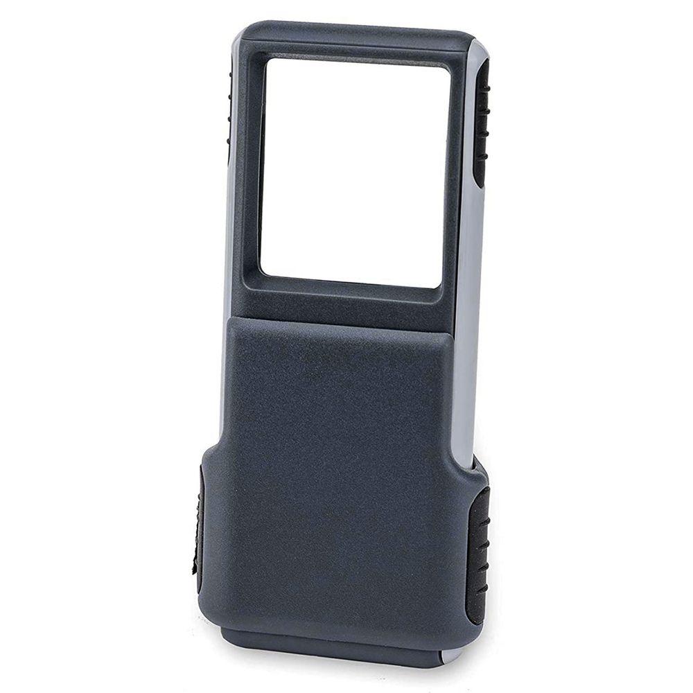 Lupa de Bolso MiniBrite com Zoom 3x, lente retrátil e LED