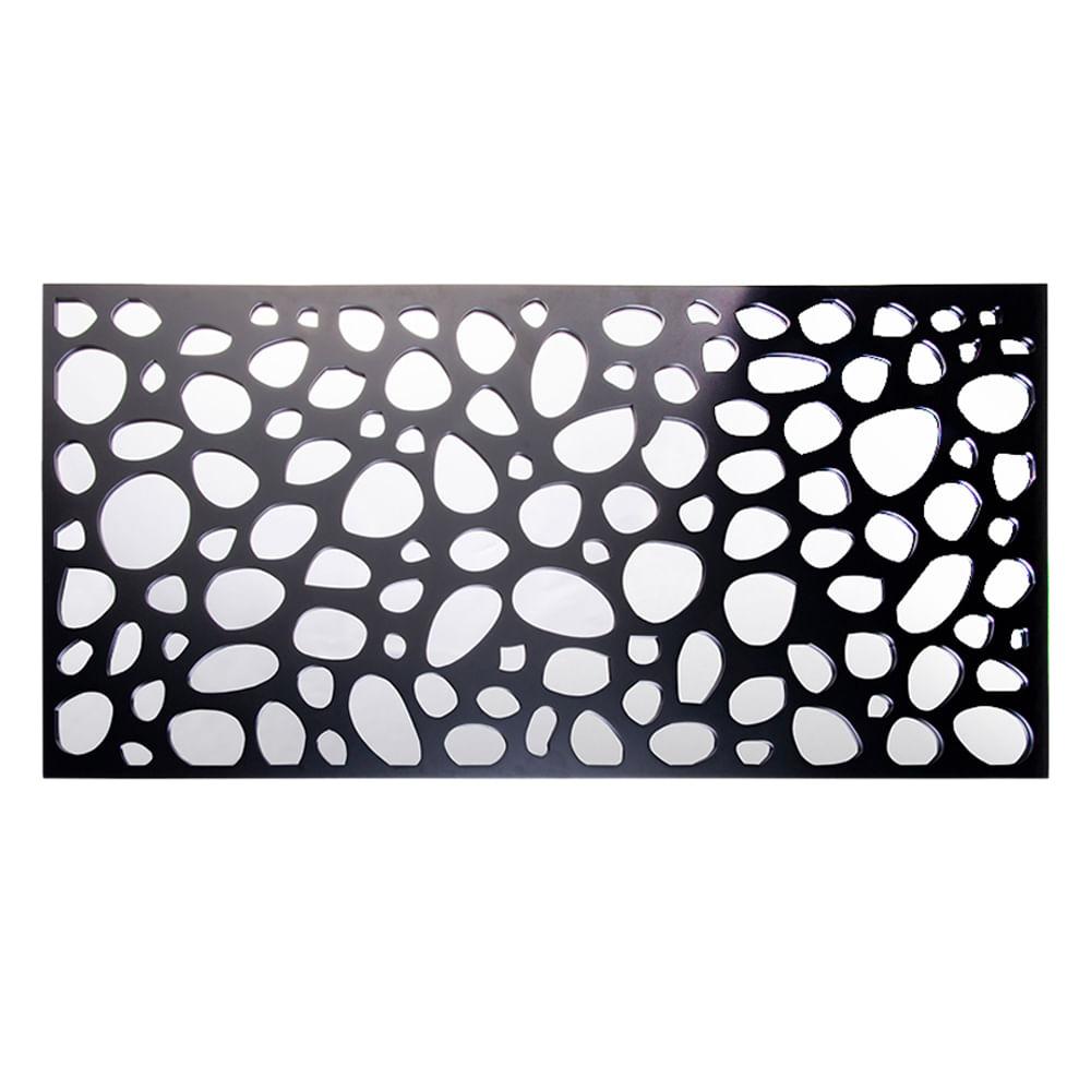 Espelho com moldura em madeira Bubbles preto 120x60cm