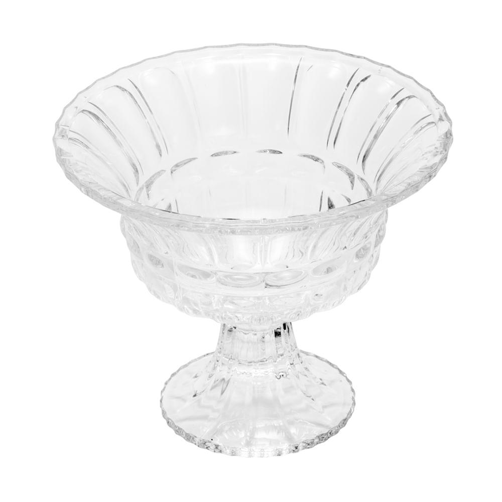 Centro de mesa cristal c/pé Athena 20x16cm