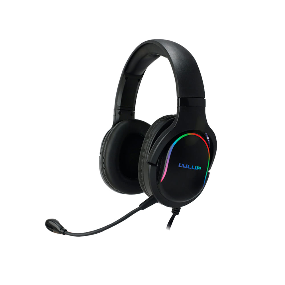 Gaming Headset Light Up Stereo Level UP para Xbox, PS, Switch, PC e Mobile
