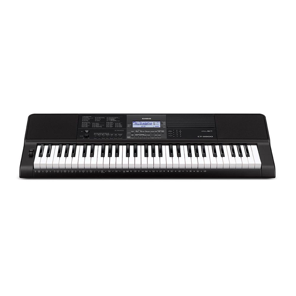 Teclado eletrônico Musical Casio com 61 teclas - Preto