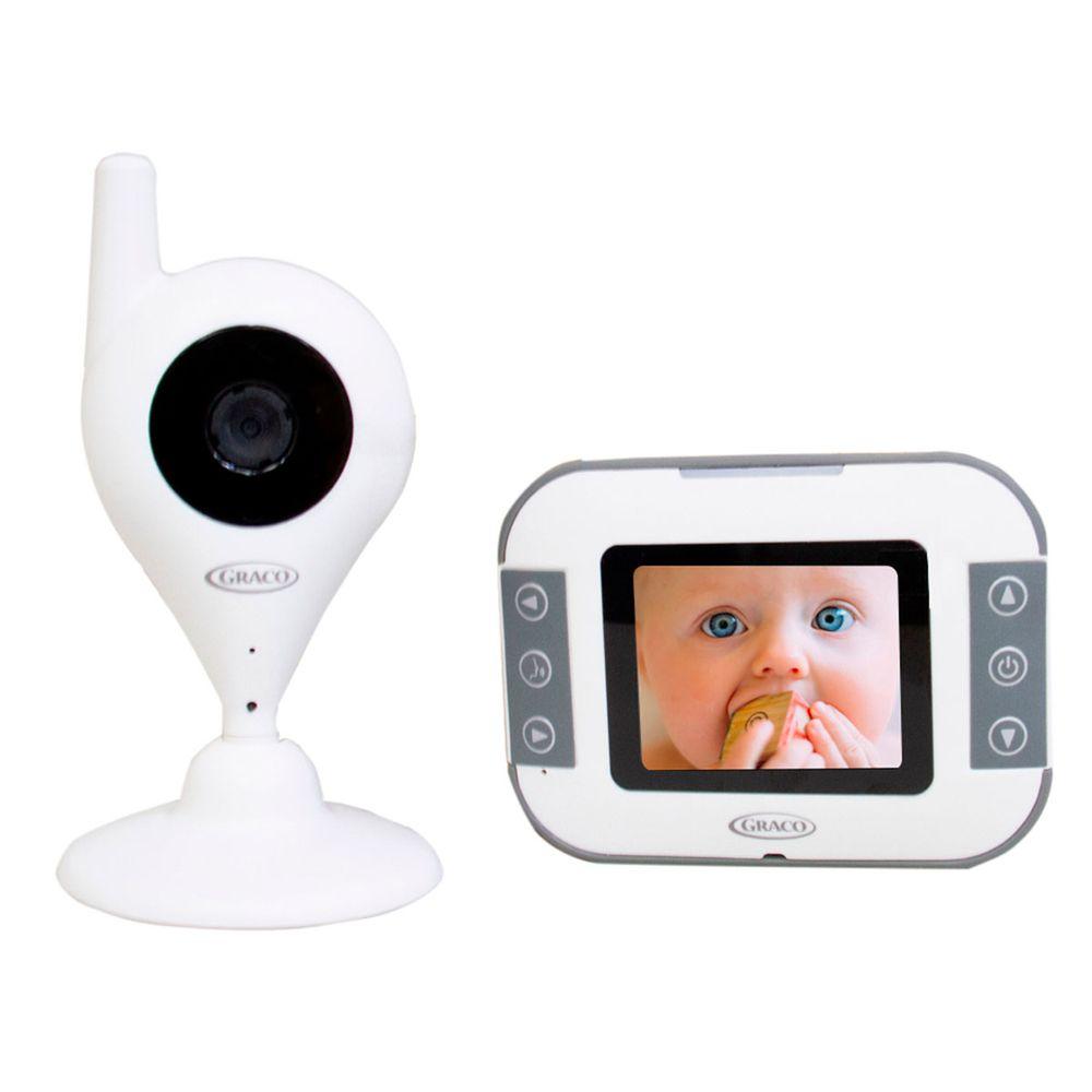 Kit com Câmera e Monitor de áudio e vídeo para Bebê  Branca