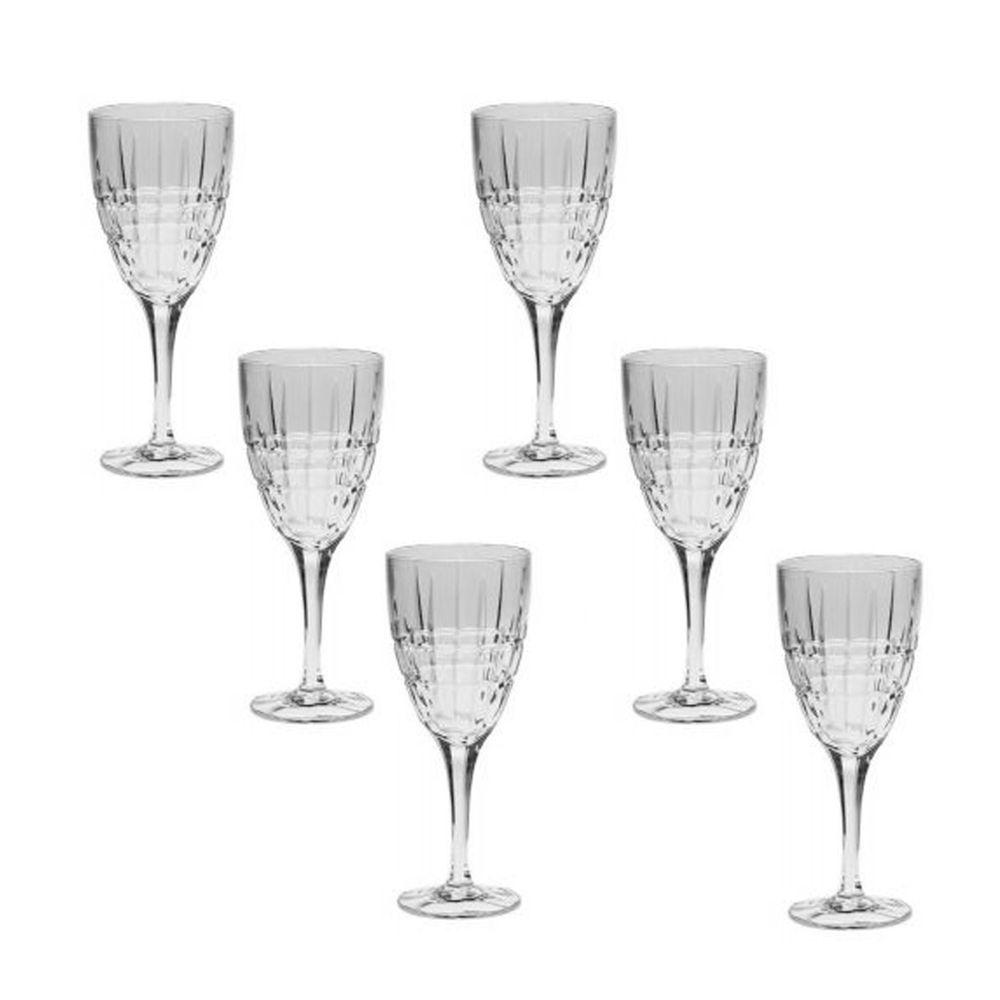 Conjunto com 6 taças cristal p/vinho Dover 320ml
